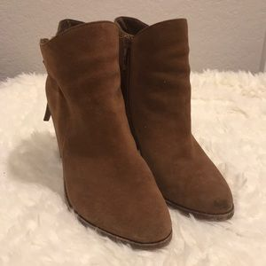 Vince Camuto leather heeled booties